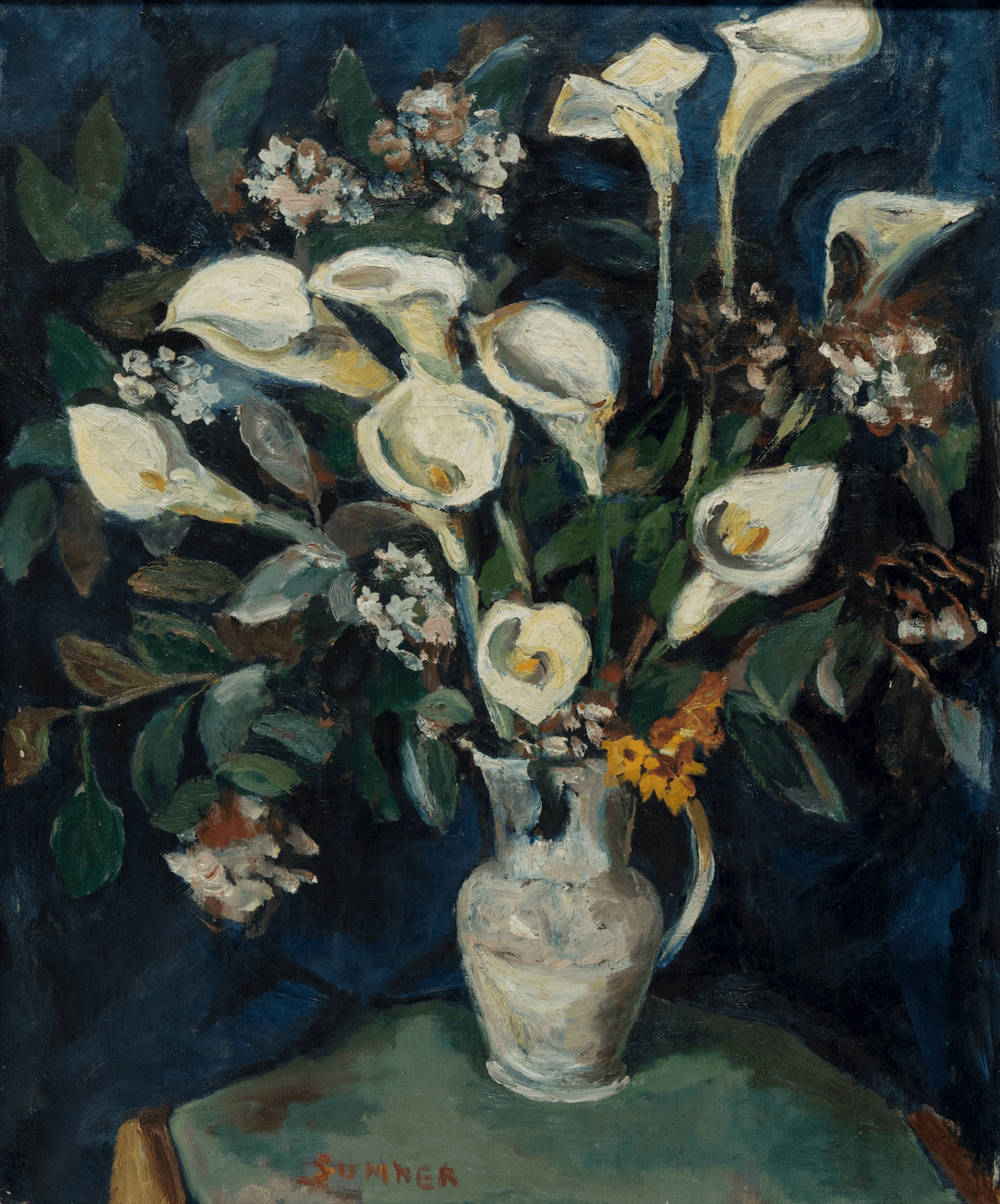 Maud Sumner Paining Arum Lillies