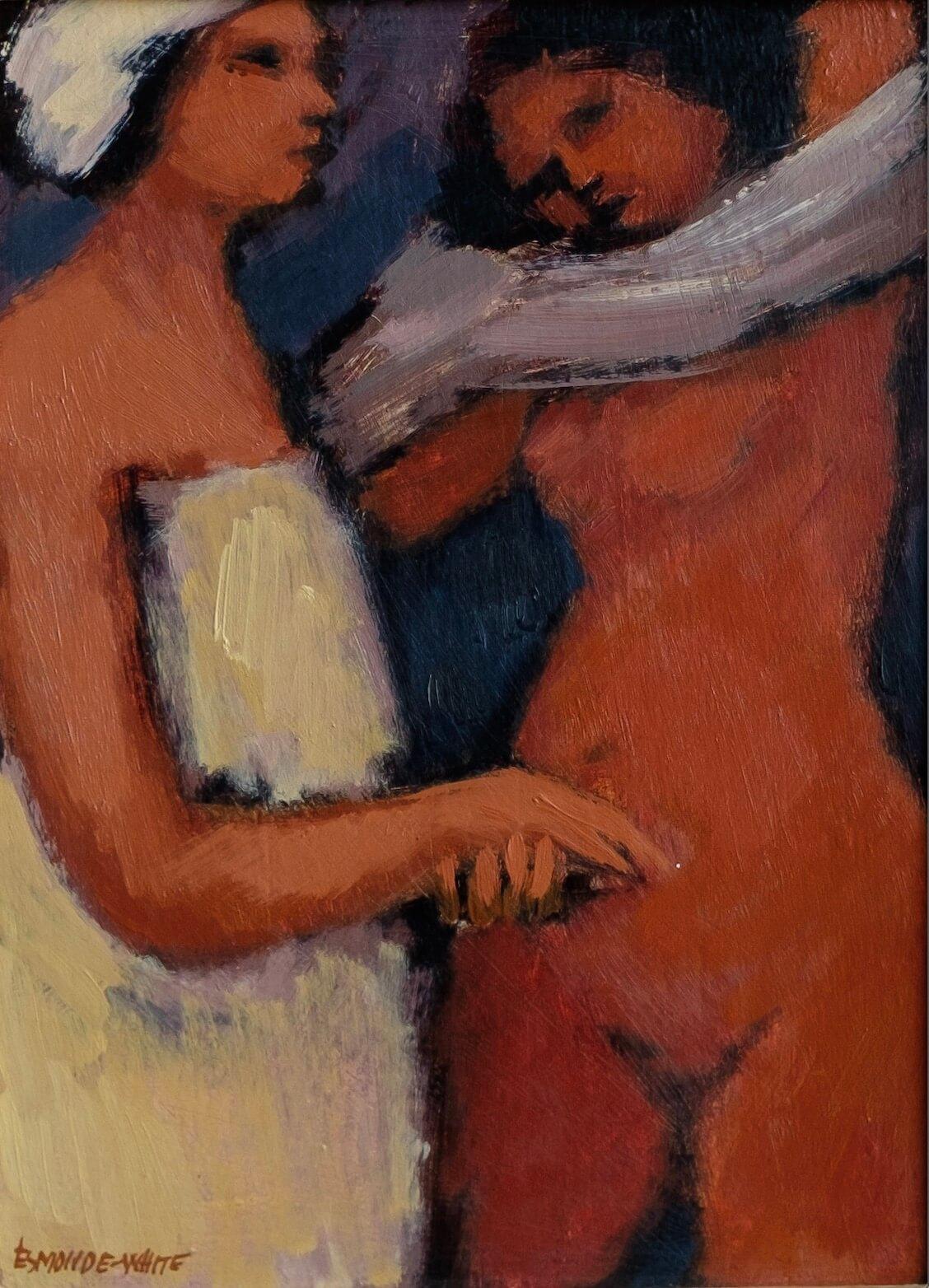 Esmond White painting - Female Nude